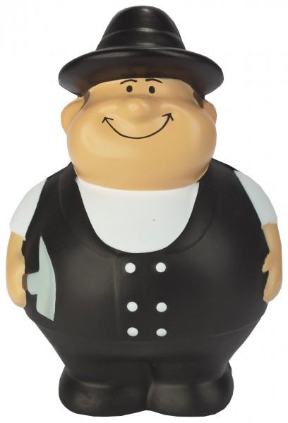 SQUEEZIES® Dachdecker Bert® - bunt (Größe: ca. 10 cm) - optional mit Tampondruck
