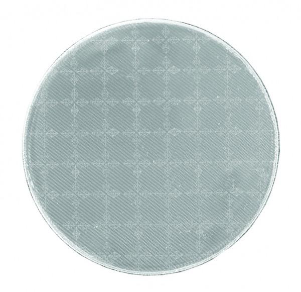Weichplastiksticker Kreis - silber (Größe: ca. 6,2 cm) - optional mit Siebdrucktransfer