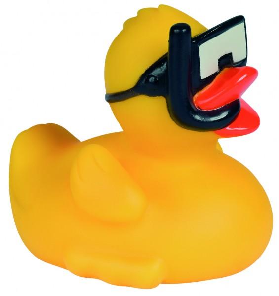 Quietsche-Ente Schnorchel - gelb (Größe: ca. 8 cm) - optional mit Tampondruck