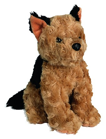 Plüsch Hund Jake - schwarz/braun (Größe: ca. 21 cm) - optional mit Siebdrucktransfer, Direkttransfer