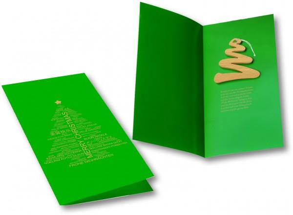Weihnachtskarte Tannenbaum, ohne Kuvert, 1-4 c Digitaldruck inklusive
