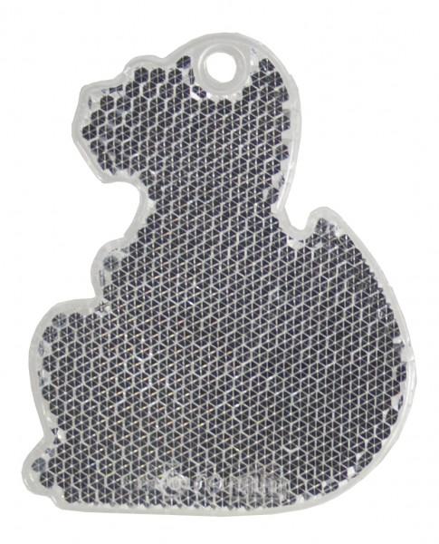 Fußgängerreflektor Dino - weiß (Größe: ca. 7 cm) - optional mit Tampon-/Siebdruck