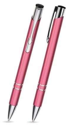 LIBO Rosa Metallkugelschreiber